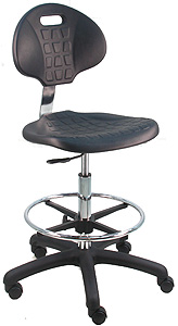 Charmant BenchPro Deluxe Cleanroom Lab Polyurethane Chair / Workbench Stool With  Adjustable Arm