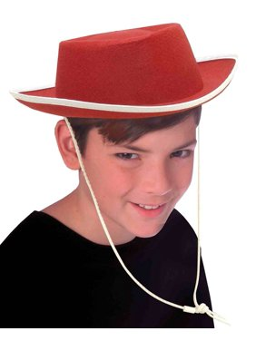9b0bb5d3a7c Product Image New Child s Country Red Cowboy Cow Boy Felt Costume Hat with  White Trim. forum-novelties