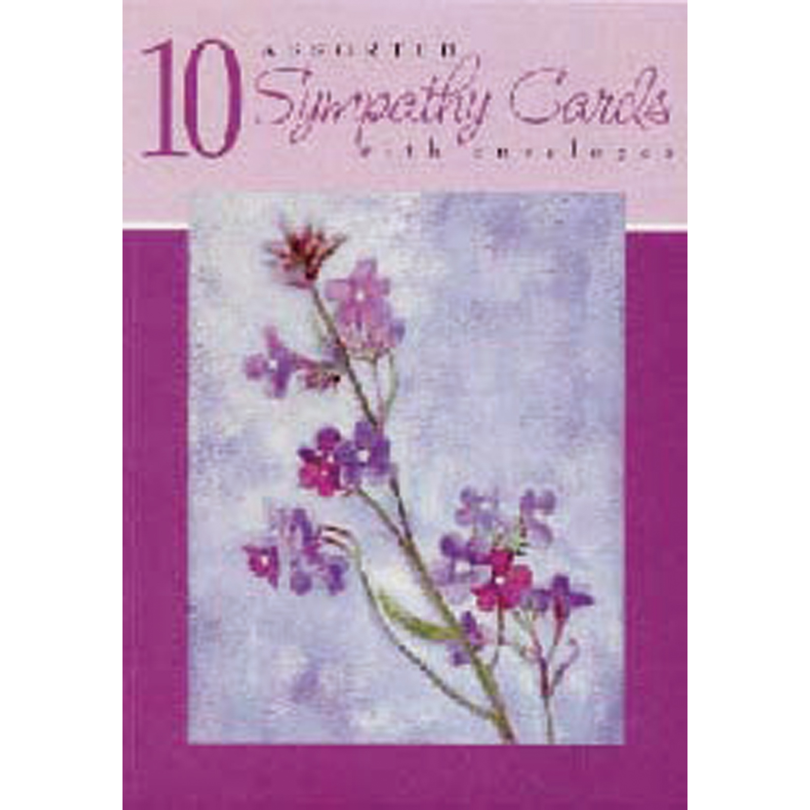 Boxed Greeting Cards - All Occasions, Sympathy Asst, 10 Ct -1 Box