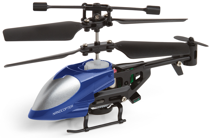 Nano Remote Control Helicopter Miniature Indoor Flying LED Microcopter by Perfect Life Ideas