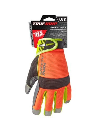 Big Time Products 9844-23 Safety Max Hi-Viz High-Performance Work Gloves, Touchscreen Compatible, Microsuede, XL
