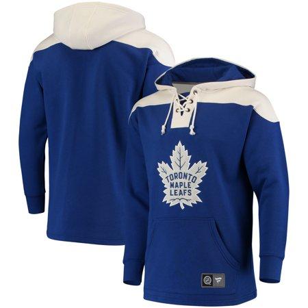 Toronto Maple Leafs Fanatics Branded Breakaway Lace Up Hoodie - Blue/White