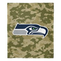 """Seattle Seahawks The Northwest Company 50"""" x 60"""" Camo Silk Touch Throw Blanket - No Size"""