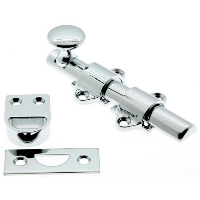 idh by st. simons 11270-026 solid brass dutch door bolt, polished chrome - 4 in.
