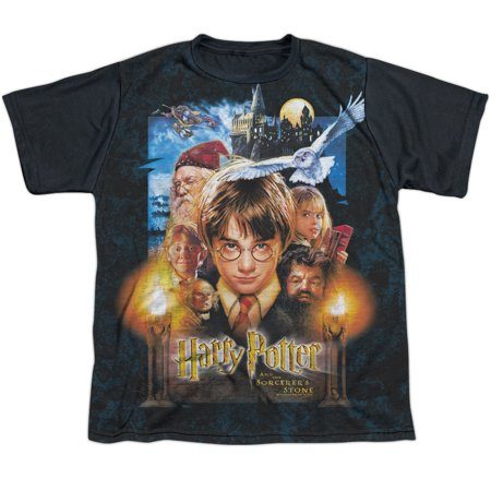 Harry Potter The Beginning Big Boys Youth Sublimated Shirt with Black - Boys In Harry Potter