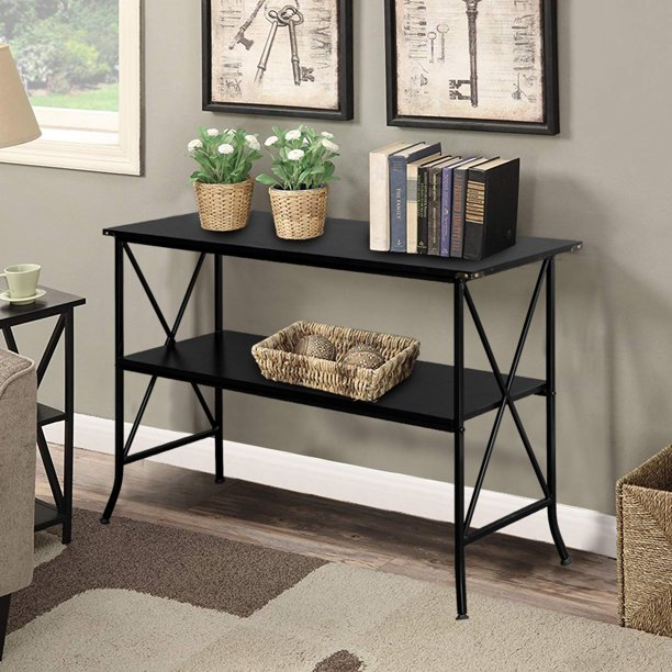 Artisasset Wrought Iron 13 Layers Console Table with Storage Shelves for  Hallway Sofa Side Tables for Living Room Bedroom