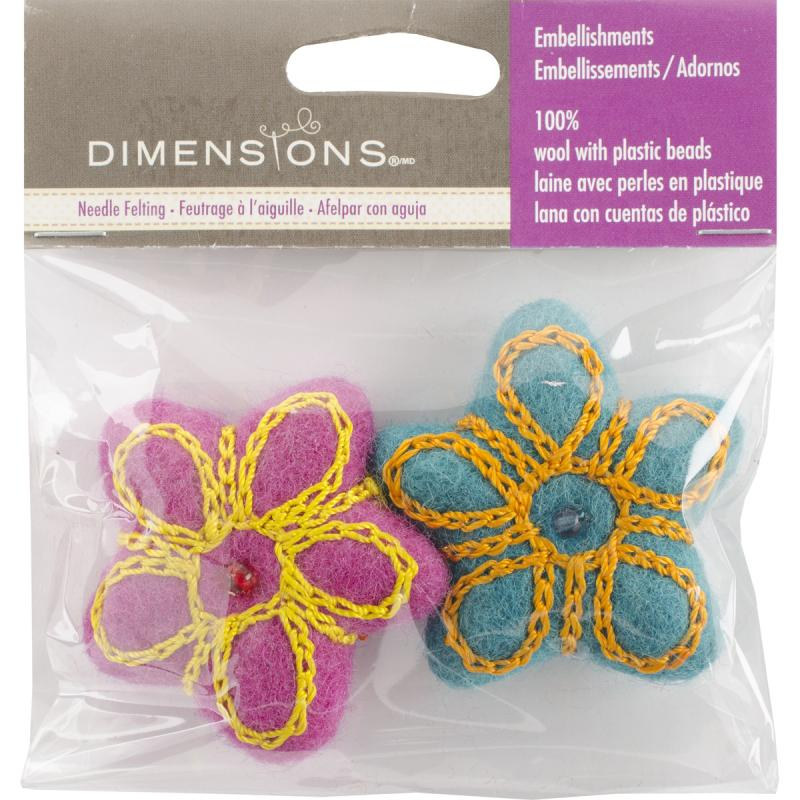 "Feltworks Embroidered Balls-2"" 2/pkg"