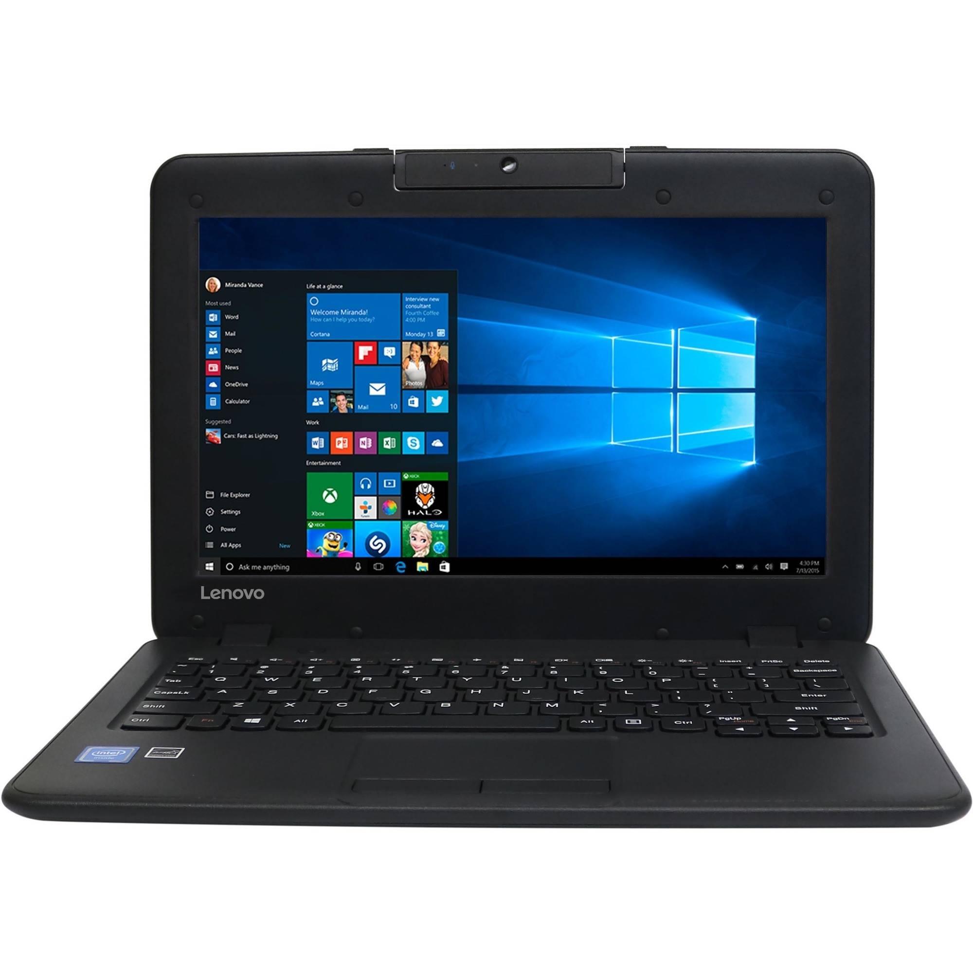 "Lenovo N22 11.6"" Laptop, Windows 10 Pro, Intel Celeron N3050 Dual-Core Processor, 4GB RAM, 64GB Hard Drive"