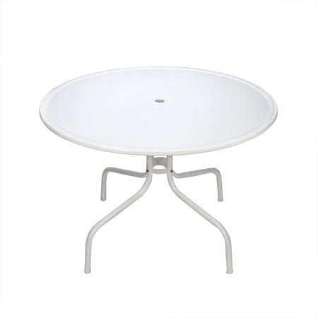 White retro metal tulip outdoor dining table for White metal outdoor dining table