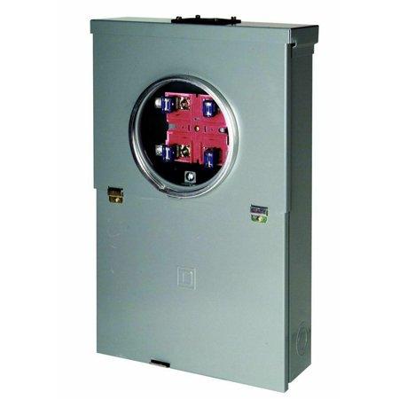 100-Amp 10-Space 20-Circuit Meter Socket Main Breaker Outdoor Overhead CSED