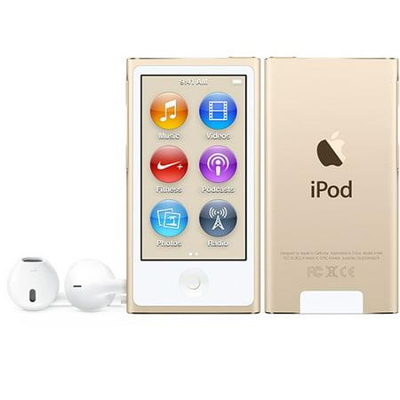 Refurbished Apple iPod Nano 7th Generation 16GB Gold ...