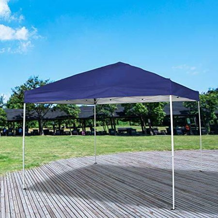 10x10ft Waterproof Portable Adjustable Instant Pop Up Gazebo Canopy Tent with Carrying Bag for Outside Outdoor Events Wedding Parties ()