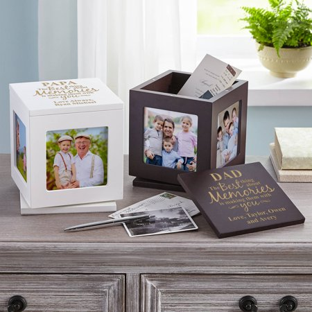 Personalized Best Memories Rotating Keepsake Box, Available in 2 Colors