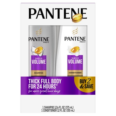 Pantene Pro-V Sheer Volume Shampoo and Conditioner Bundle