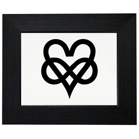 Pink Heart Plus Infinity Sign Symbolizing Endless Love Framed Print Poster Wall or Desk Mount Options (Infinity Love Sign)