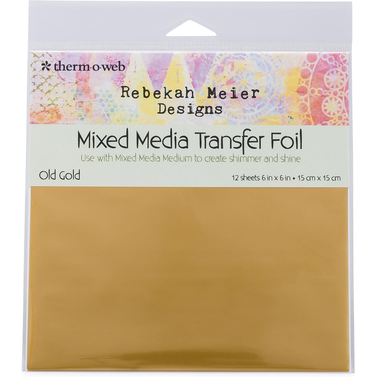 "Thermoweb Rebekah Meier Designs Transfer Foil 6""X6"" 12/Pkg-Old Gold"
