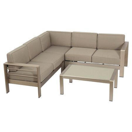 Jordan Aluminum 4 Piece Patio Conversation Set
