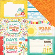Echo Park I Love Sunshine Paper 12x12 Journal Card