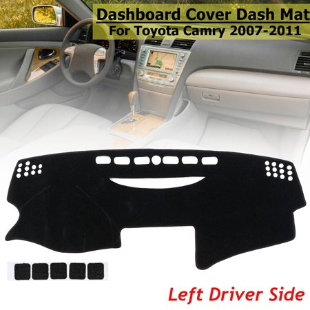 Left Hand Drive Black  Dash Cover Dashboard Mat Pad Cushion For Toyota Camry 2007 2008 2009 2010 2011