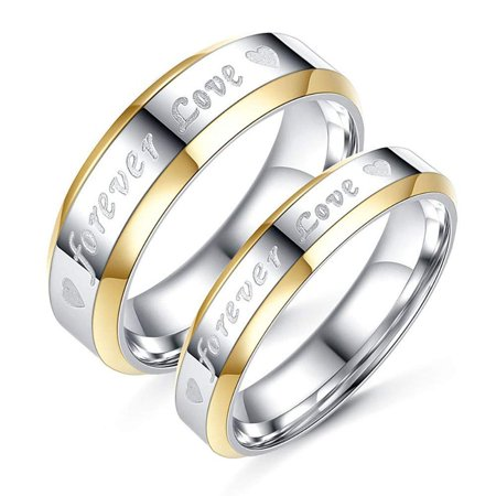 Love Forever Celtic Wedding Ring - Ginger Lyne Collection Forever Love 4 or 6 mm His and Hers Two Toned Stainless Steel Matching Wedding Band Ring