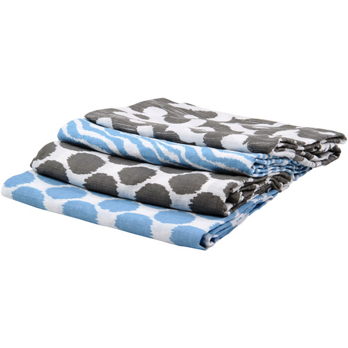Bacati Ikat Swaddling Muslin Blankets, Available in Multiple Patterns and Colors
