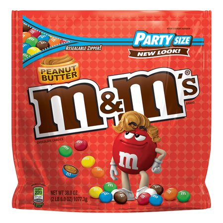 M&M's, Peanut Butter Chocolate Candy, Party Size, 38 Oz