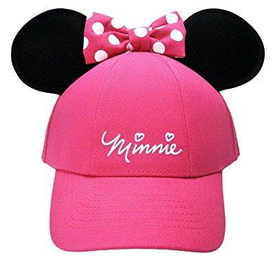 disney women's minnie mouse bow ears baseball hat (pink) for $<!---->
