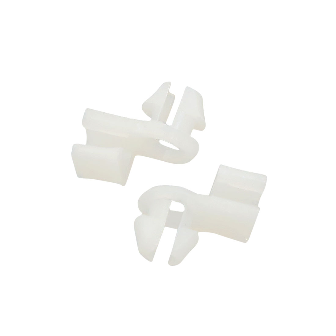 8mm Dia Hole Car Interior Door Trim Panel Moulding Fixing Clip Rivet White 20pcs - image 2 of 2