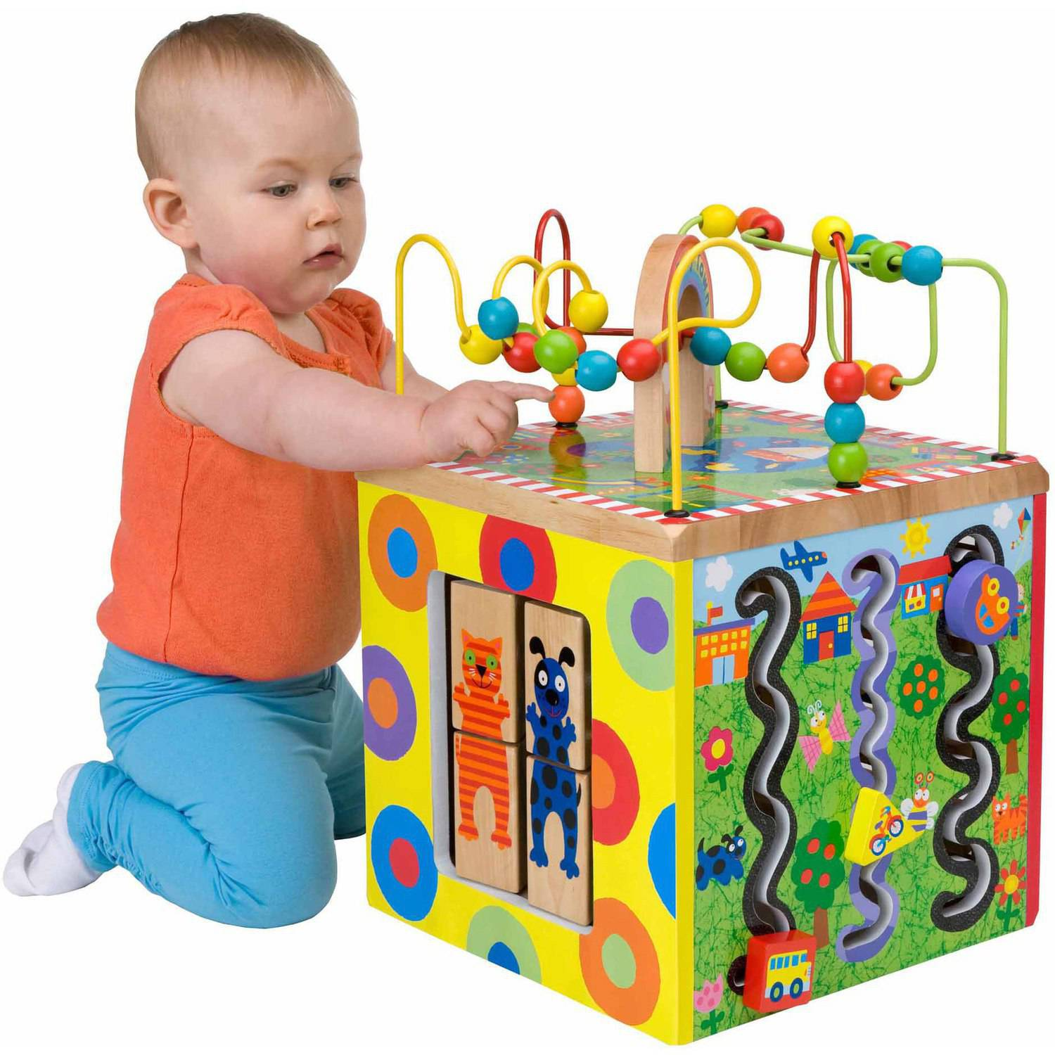 ALEX Toys ALEX Jr My Busy Town Wooden Activity Cube Walmart