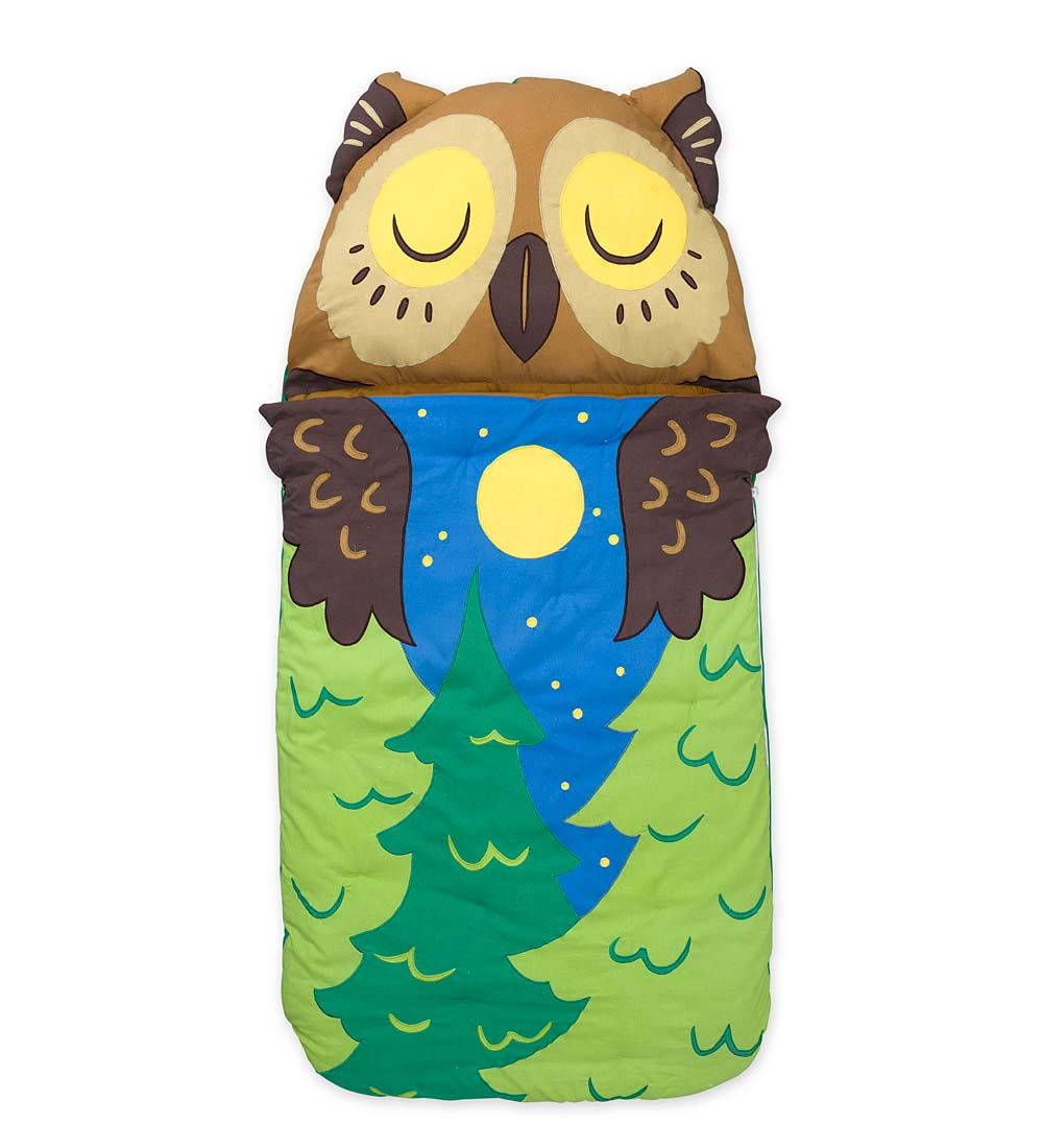 Magic Cabin Woodland Sleeping Bag, Owl - Children's Sleep...