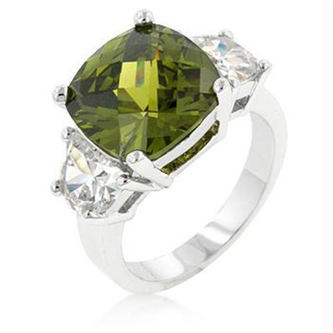Olive Triplet Ring, <b>Size :</b> 09