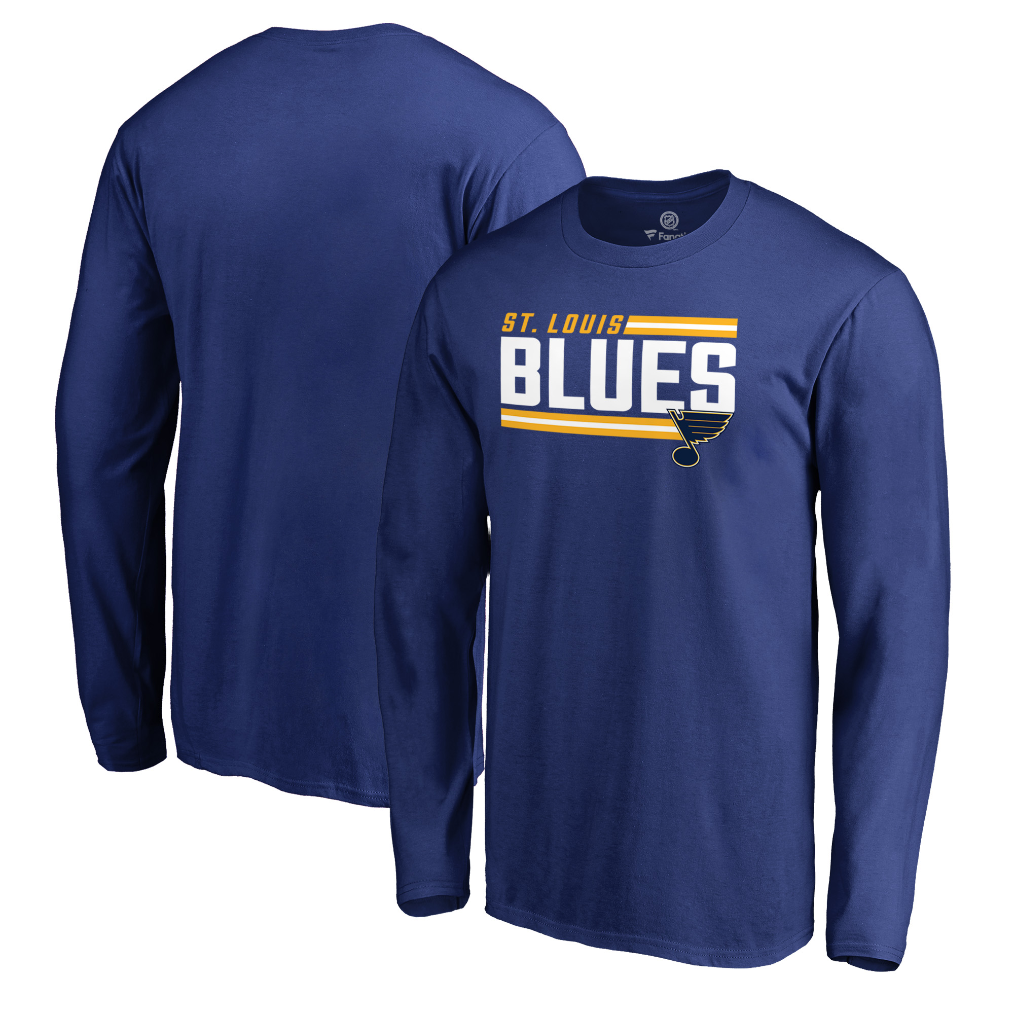 St. Louis Blues Fanatics Branded Iconic Collection On Side Stripe Long Sleeve T-Shirt - Royal