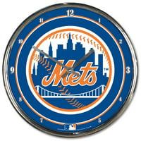 New York Mets WinCraft Chrome Wall Clock