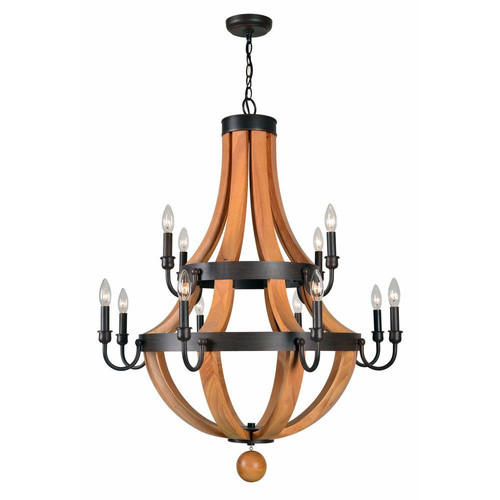 World Imports Taylor 12 Light Candle Chandelier