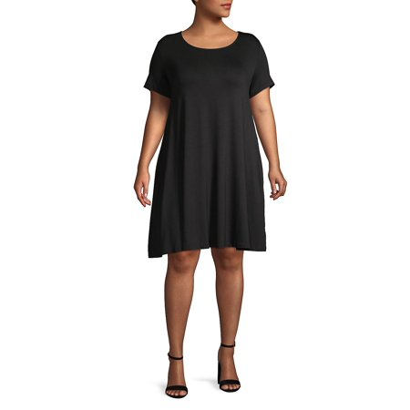 Plus Short Sleeve Shift Dress