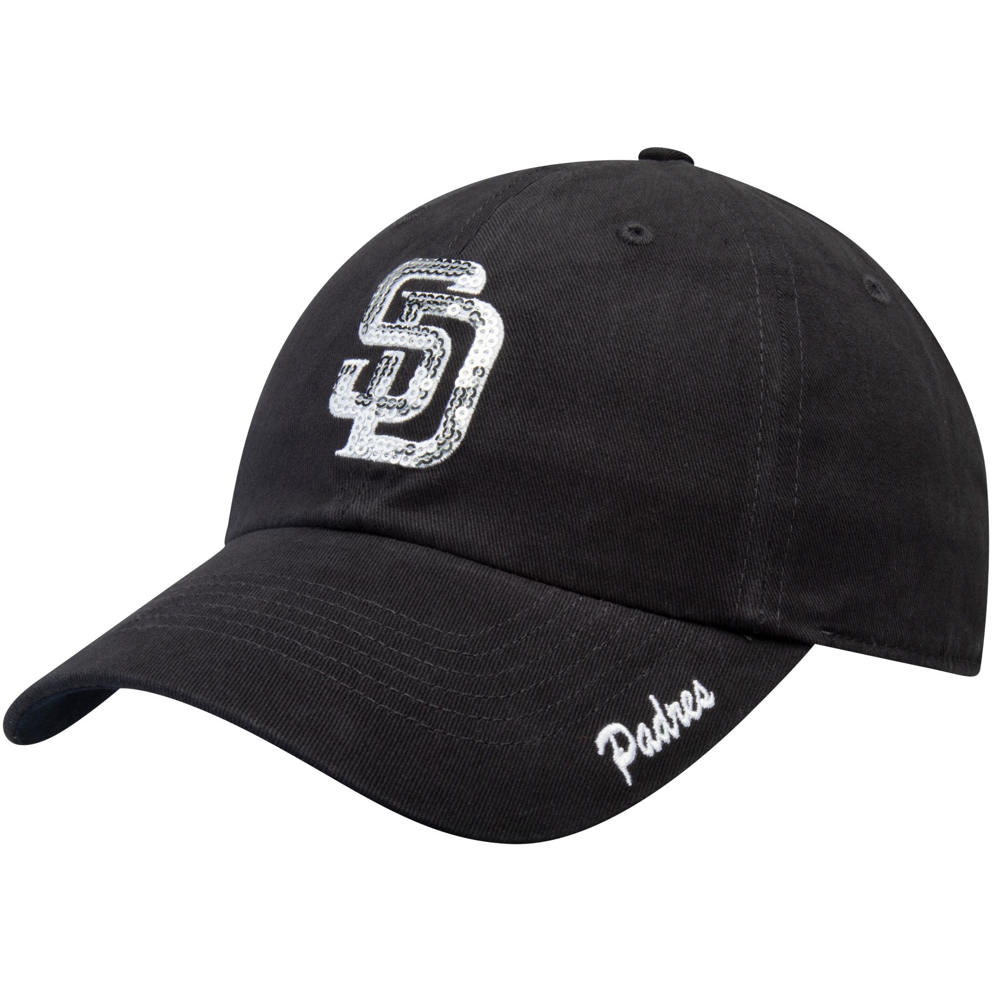 Women's Fan Favorite Navy San Diego Padres Sparkle Adjustable Hat - OSFA