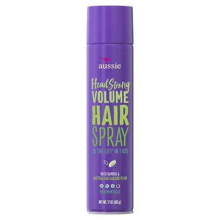 Aussie Headstrong Volume Hairspray with Bamboo & Kakadu Plum, 17 oz