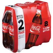 Coca-Cola Soda Special Offer 2 Bottles Free, 0.5 L, 8 Count