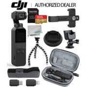 DJI Osmo Pocket Handheld 3 Axis Gimbal Stabilizer with Integrated Camera Essentials Travel Bundle
