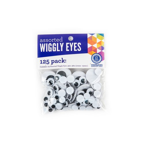 Wiggly Eyes Assorted Sizes, 125 Count