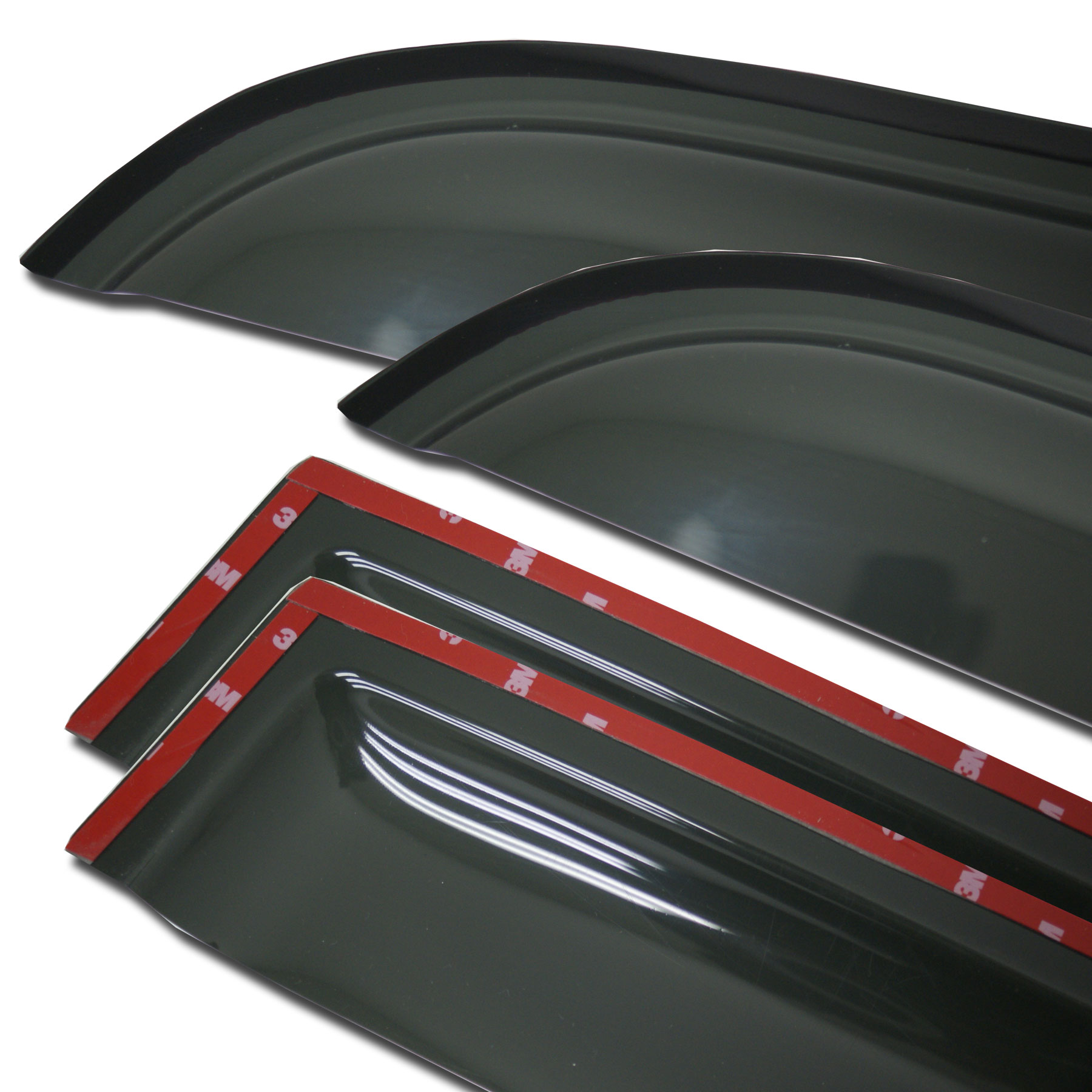 4pcs Dark Smoke Out-Channel Visor Rain Guards For Buick Rendezvous 2002-2007