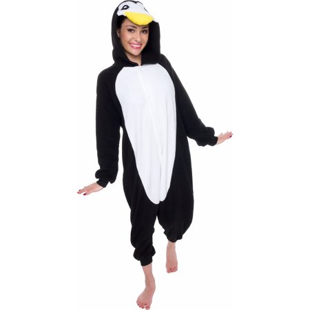 SILVER LILLY Unisex Adult Plush Penguin Animal Cosplay Costume Pajamas