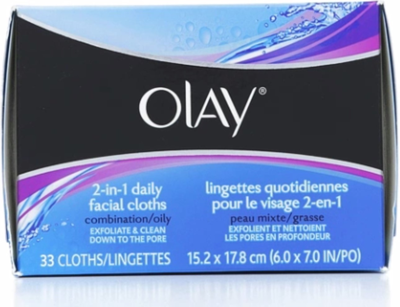 OLAY 2-in-1 Daily Facial Cloths 33 ea (Pack of 6) Babor Extra Firming Serum (30ml)