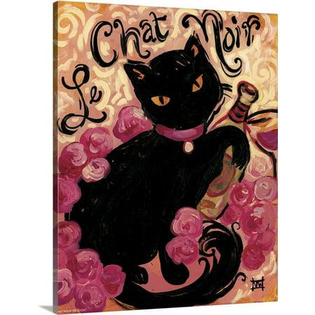 Great Big Canvas Natasha Wescoat Premium Thick Wrap Canvas Entitled Le Chat Noir