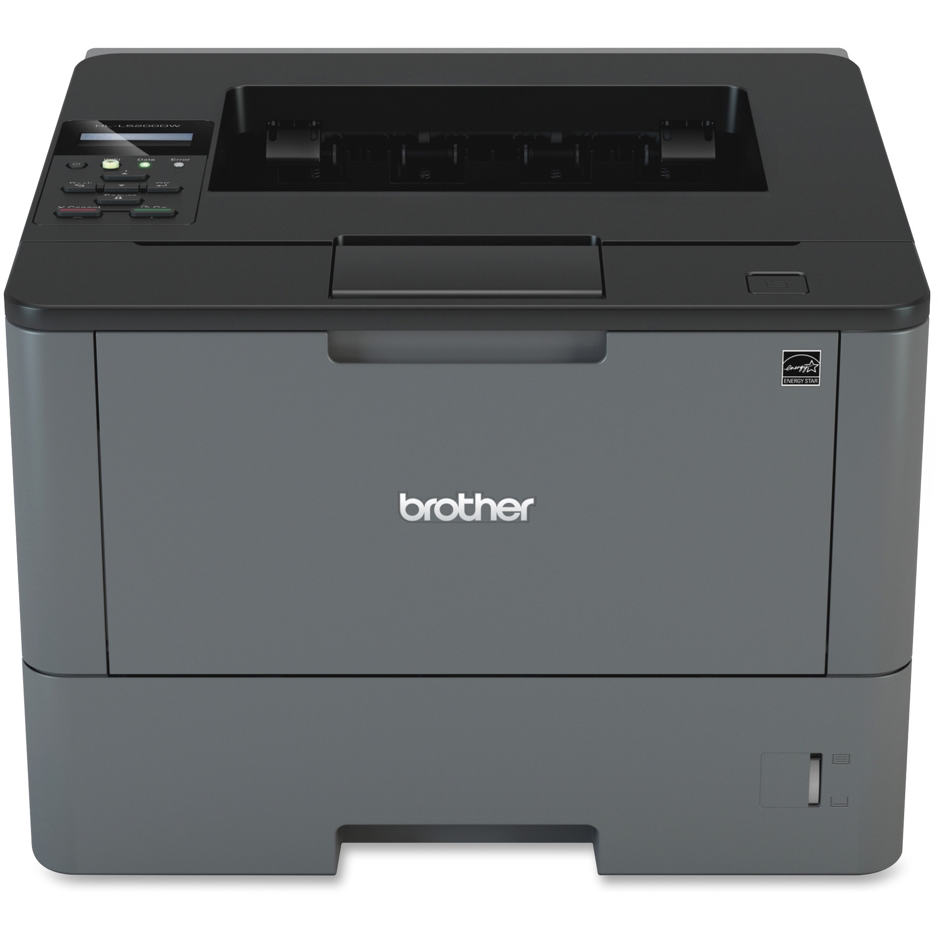 Brother Monochrome Laser Printer, HL-L5200DW, Wireless Networking, Mobile Printing, Duplex Printing