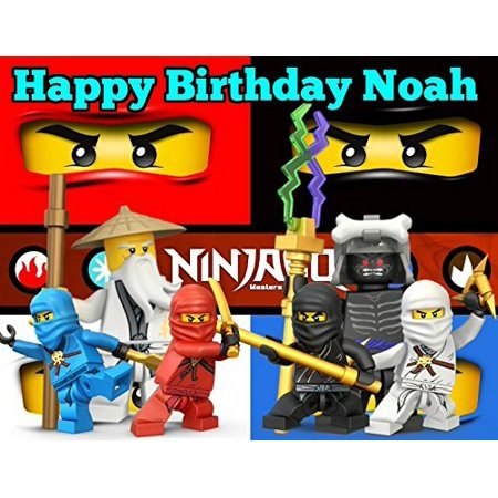 Ninjago Image Photo Cake Topper Sheet Personalized Custom Customized Birthday Party - 1/4 Sheet - 75850](Cake Toppers Birthday)