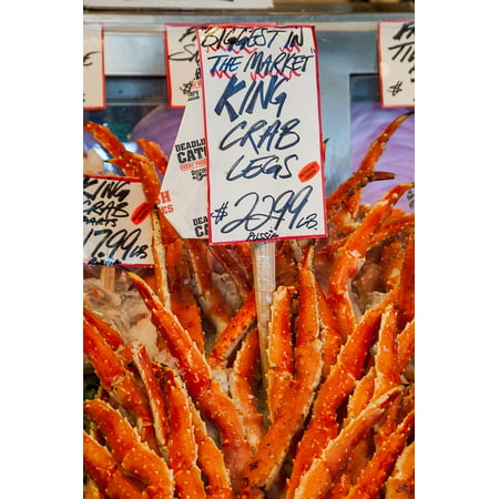 King Size Wood Poster (LAMINATED POSTER Farmers Market King Crab Legs Fish Market King Crab Poster Print 24 x 36 )