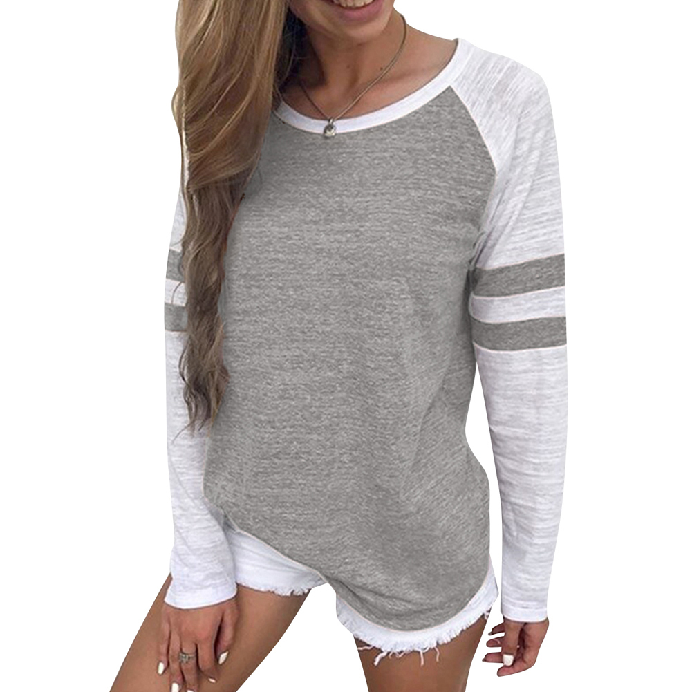 One Size S//M//L Women/'s Crewneck Basic Sweater