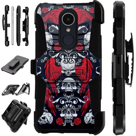 LuxGuard Phone Case Cover For LG Stylo 4 | Stylo 4 Plus | Q Stylus Q Plus Q Alpha (Skull Angel) ()