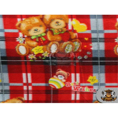 Fleece Printed Fabric BEARS BEST WISHES / 58